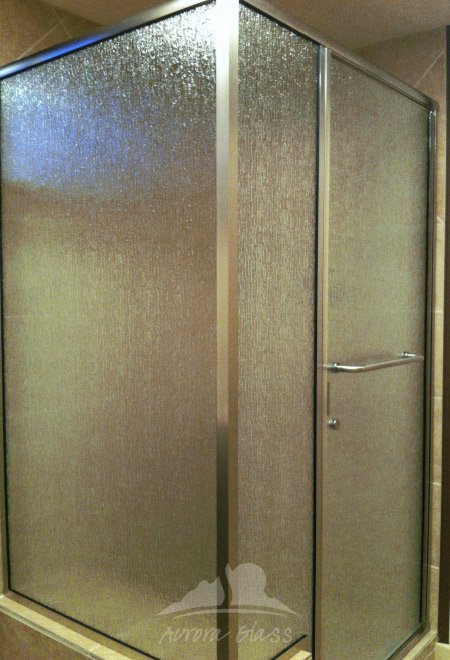 Semi-Frameless Shower Door Series with Rain Glass